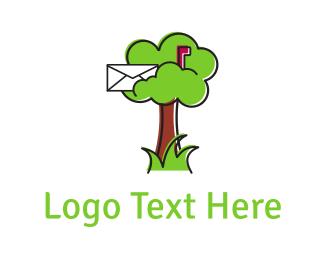 Postcard - Mail Tree logo design