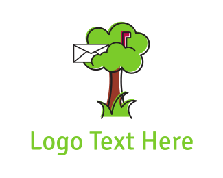 Brown - Mail Tree logo design