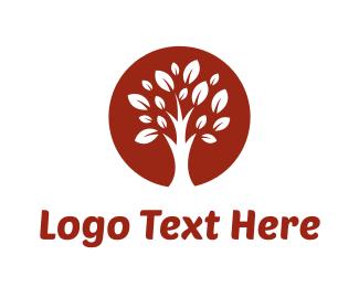 Wood - Brown Tree logo design