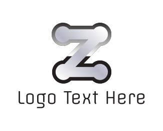 Silver - Metal Letter Z logo design
