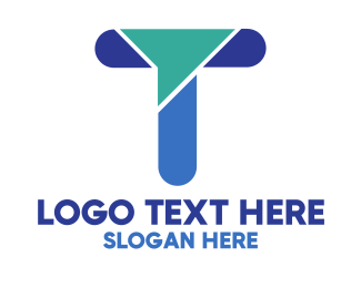 Design - Modern Blue Letter T logo design