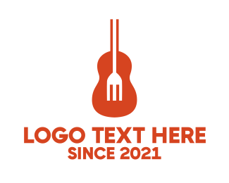 Folk - Guitar Fork logo design