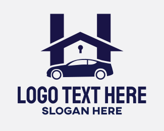 Insurance - Car & Padlock logo design