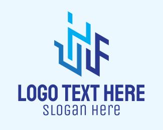 Architecture - Letter IF Architecture logo design