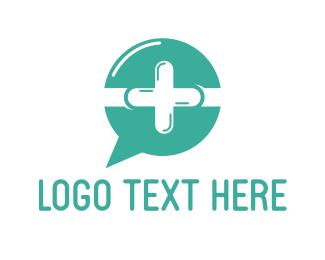 Healing - Medical Chat  logo design