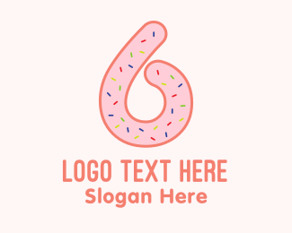 Six - Six Donut logo design