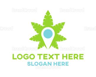Alternative Medicine - Marijuana Map logo design