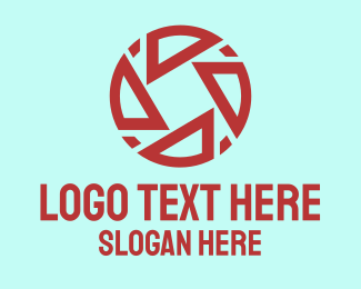 Video Editing - Red Camera Shutter  logo design