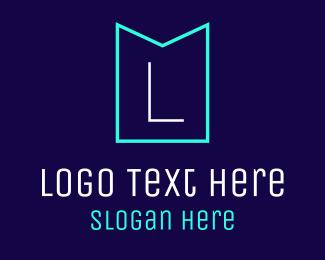 Neon Light - Minimalist Emblem logo design