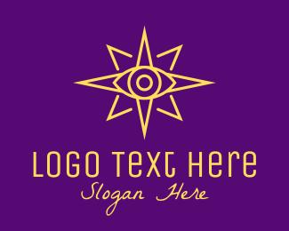 Cosmos - Yellow Mystic Eye Star logo design