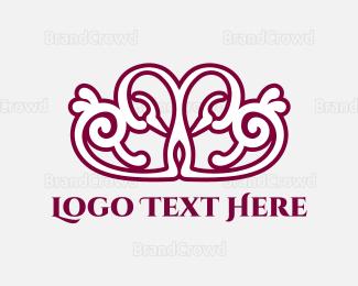 Crown - Love Crown logo design