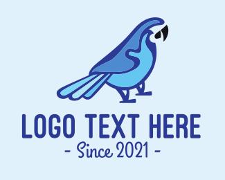 Macaw - Blue Parrot Animal Rescue logo design