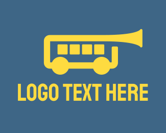 Marching Band - Trumpet Bus logo design