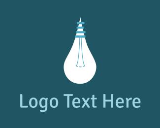 Idea - White Bulb Idea logo design