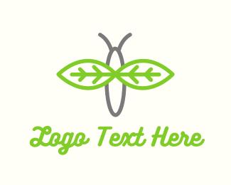 Firefly - Leaf Butterfly logo design