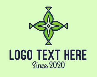 Natural Cross & Star Logo