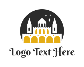 Hindu - Midnight Castle logo design