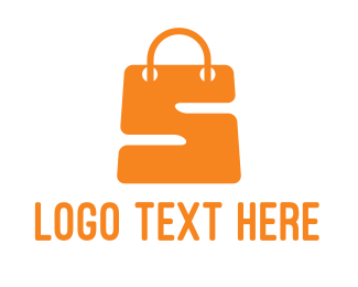 Online Shop - Orange S Bag logo design