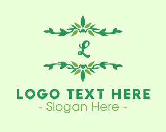 Ornamental - Green Ornamental Lettermark logo design