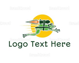 Kids Party - Rocket Frog logo design