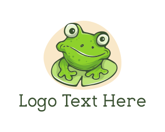 Pond - Green Frog logo design