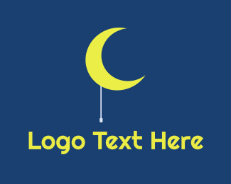 Night Time - Moon Light logo design
