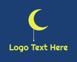 Flashlight - Moon Light logo design