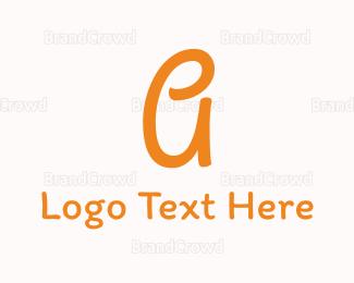 Act - Friendly Letter A logo design