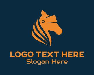 Gallop - Horse VR Goggles logo design
