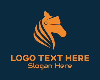 Horse Racing - Horse VR Goggles logo design