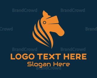 Zebra - Horse VR Goggles logo design