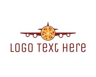 Crust - Pizza Plane  logo design
