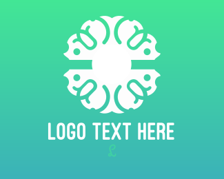 Ornamental - White  Ornamental Pattern logo design