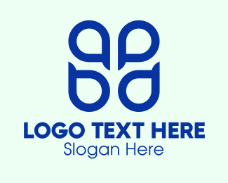 Ab - Blue ABPD Monogram  logo design