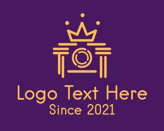 Event Photography - Camera Lens Crown logo design