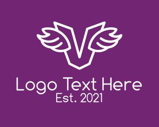 Logistics - White Logistics Letter V logo design