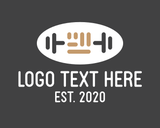 Kettle Bell - Fist Barbell Gym logo design