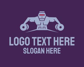 Robotics - Robot Gym Fitness Tech logo design