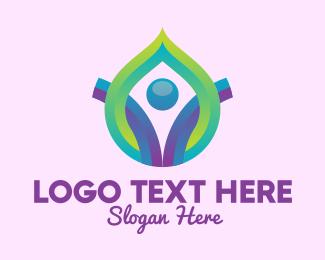 Aromatherapy - Yoga Drop Massage Spa logo design