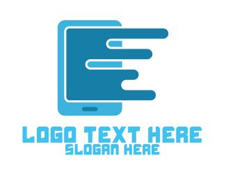 Mobile Internet - Modern Cell Phone logo design