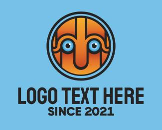 Sports - Robot Face Mascot logo design