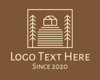 Rice Field - Countryside Farm House logo design