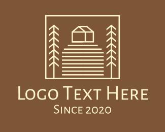 Farm - Countryside Farm House logo design