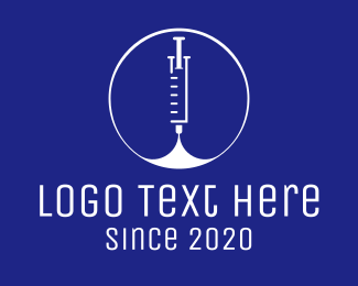 Vaccination - Medical Vaccination Syringe logo design