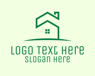 Sustainable Living - Green Eco House logo design