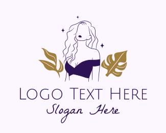 Hairstyling - Beautiful Woman Fashion  logo design