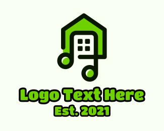Music Class - Green House Music logo design