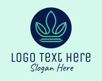 Business - Leafy Nature Crown logo design