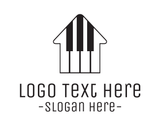 Instrument - Piano House logo design