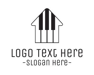 Teacher - Piano House logo design